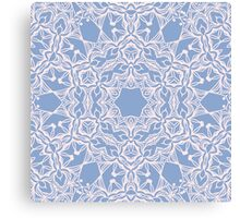 Abstract arabesque ornament in Rose Quartz and Serenity Blue Canvas Print