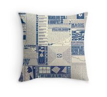 Wizarding Newspaper during Coffee Throw Pillow