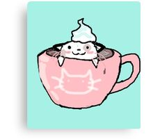 kitten in your coffee Canvas Print