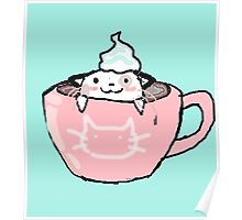 kitten in your coffee Poster