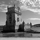Black White Belem Tower 3 | Torre de Belem by silvianeto