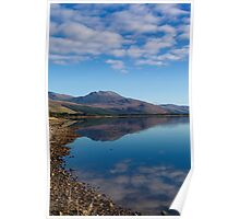 Loch Carron from the village of Lochcarron Poster