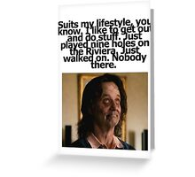 Bill Murray - Zombieland - Golf Quote Greeting Card