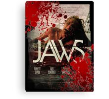 Retro Jaws poster designed by me!!! Canvas Print