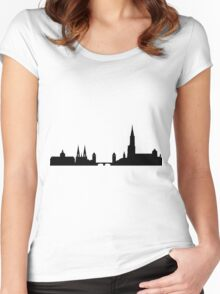 Strasbourg skyline Women's Fitted Scoop T-Shirt