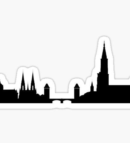 Strasbourg skyline Sticker