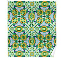 Cute Kaleidoscope Pattern Poster