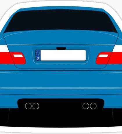 E46 rear-end Sticker