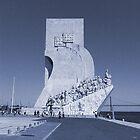 Blue Vintage Monument to the Discoveries | Padrão Descobrimentos by silvianeto