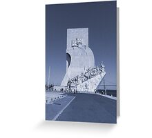 Blue Vintage Monument to the Discoveries | Padrão Descobrimentos Greeting Card