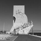 Black White Vintage Monument to the Discoveries | Padrão Descobrimentos by silvianeto