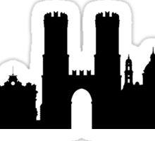 Genoa skyline Sticker