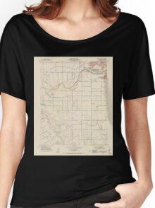 USGS TOPO Map California CA Brush Lake 302506 1953 24000 geo Women's Relaxed Fit T-Shirt