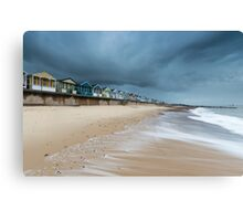 The Waves Coming in at Southwold Pier Canvas Print