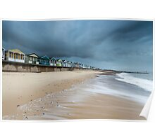 The Waves Coming in at Southwold Pier Poster