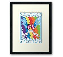 Rainbow Dash, Subtle Brony Poster #3 Framed Print
