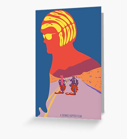 Easy Rider Psychedelic Movie Poster Greeting Card