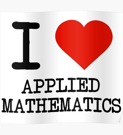 I Love Applied Mathematics Poster