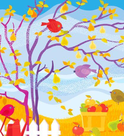 Autumn Farm Sticker
