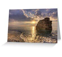 Light at sunset Greeting Card