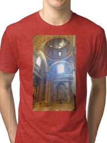 Inside View of St. Peter's Basilica Tri-blend T-Shirt