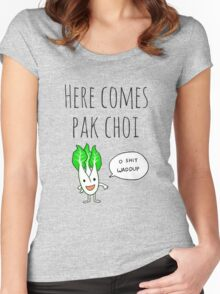 Here Comes Pak Choi (Dat Boi Parody) Women's Fitted Scoop T-Shirt