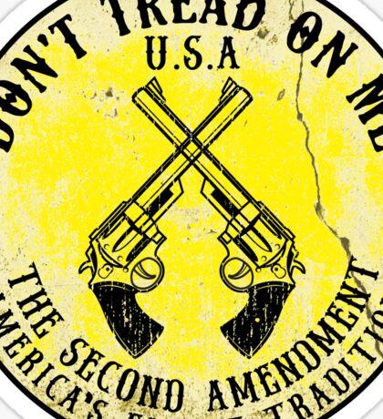 DON'T TREAD ON ME SECOND AMENDMENT USA AMERICA FREEDOM GUNS 2ND Sticker