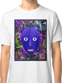 AFRICAN 3D ABSTRACT; Witch Doctor Mask Print Classic T-Shirt