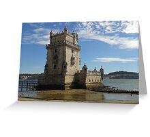 Vintage Belem Tower 3 | Torre de Belém Greeting Card