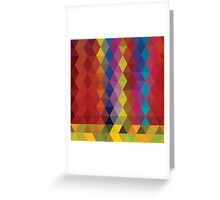 Abstract geometric colorful background, pattern design Greeting Card