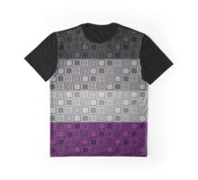 Asexual Squares and Circles Flag Pattern Graphic T-Shirt