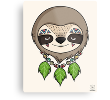 Sloth Head Metal Print