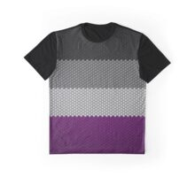 Asexual Hexagon Flag Pattern Graphic T-Shirt