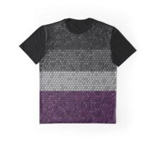 Asexual Honeycomb Flag Pattern Graphic T-Shirt