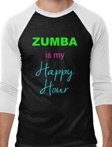 Zumba IS My Happy Hour! Men's Baseball ¾ T-Shirt