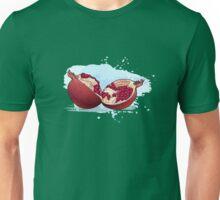 pomegranate cut in half. Unisex T-Shirt