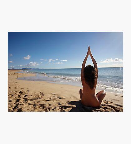 Yoga on the beach Photographic Print