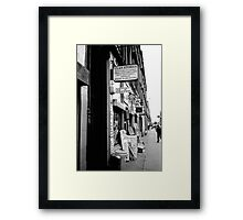 Clan Stores Framed Print