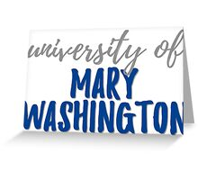 University of Mary Washington Greeting Card