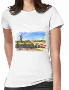 West Ham Olympic Stadium And The Arcelormittal Orbit Art Womens Fitted T-Shirt