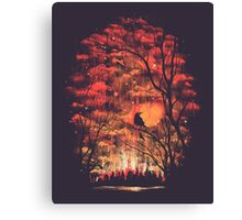 Burning In The Skies Canvas Print