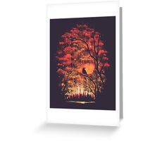 Burning In The Skies Greeting Card
