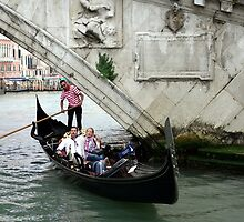 Venetian Gondolier by Julie Sleeman