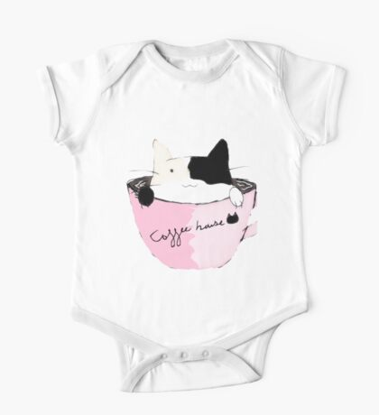 coffee house cat One Piece - Short Sleeve
