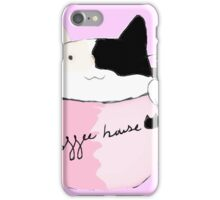coffee house cat iPhone Case/Skin