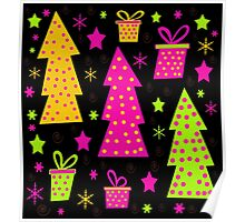 Playful colorful Xmas Poster