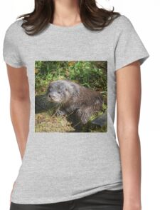 English Otter  Womens Fitted T-Shirt