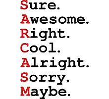 Sarcasm Photographic Print