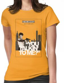 You talkin' yo me? Womens Fitted T-Shirt