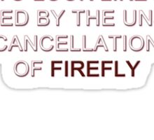 Firefly&Community: we'll bring the show back! - black version Sticker